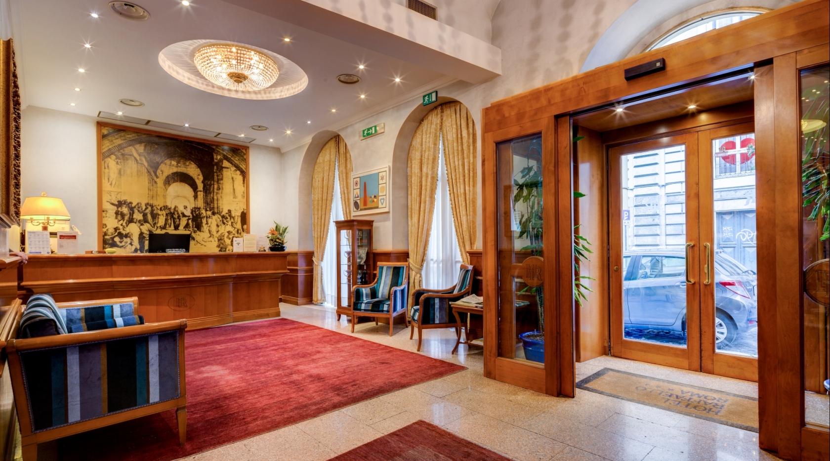 Hall - Hotel Raffaello Roma 3 stelle